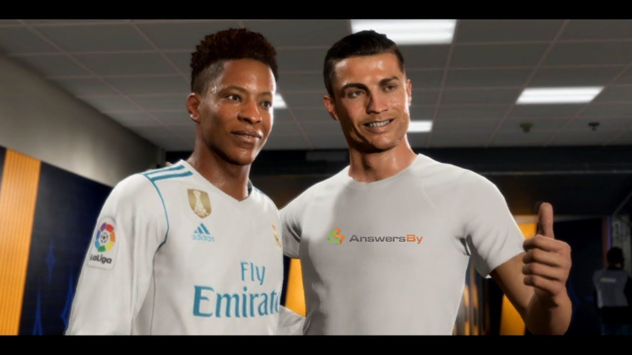 Alex Hunter shirt swap with Cristiano Ronaldo.